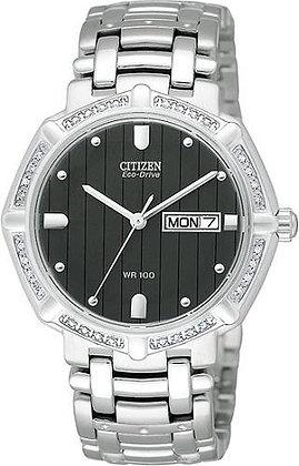 Citizen Watch Bracelet Silver Tone Stainless Steel Part # 59-S02047