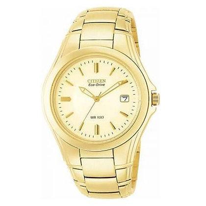 Citizen watch Bracelet Gold Tone Stainless Steel Part # 59-K00222