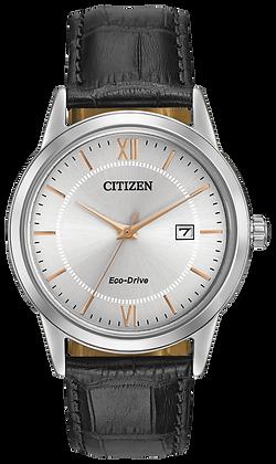 Citizen Watch Strap Black Leather Part # 59-S53083