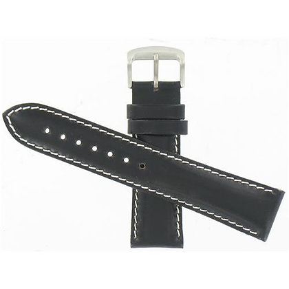 Citizen Watch Strap Black Leather 22 MM Specialty Part # 59-T50213