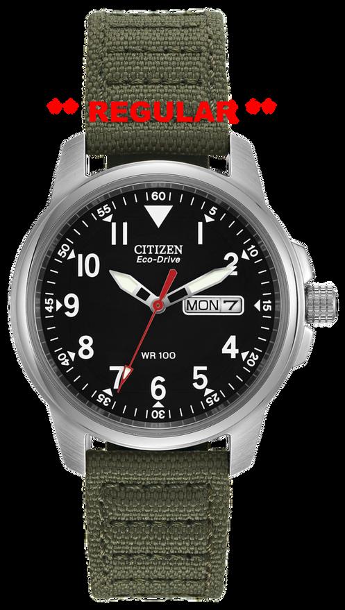 Citizen Watch Band Green Cloth 18mm Part 59 S52136