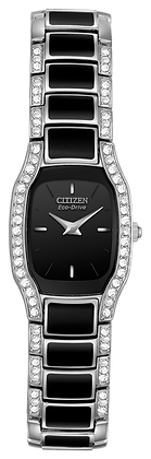 Citizen Watch Bracelet  Two  Tone  W/ Black  Resin Part # 59-S04009
