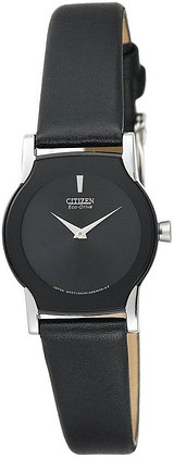 Citizen Watch Strap Black Smooth Leather 13MM Part # 59-S50844
