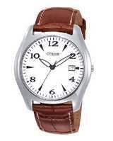 Citizen Watch Strap Brown Leather 20 MM Part # 59-S50646