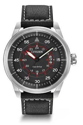 Citizen Watch Strap Black Leather Part # 59-S53002