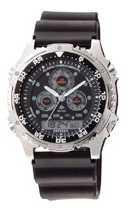 Citizen Watch Strap Black Rubber 20 X 23 MM Part # 59-L7082