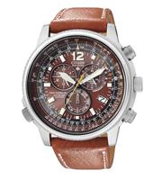Citizen Watch Strap Brown Leather Part # 59-S52168