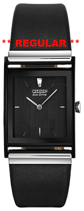 Citizen Watch Band Black Leather Smooth 23 MM Part # 59-S50238