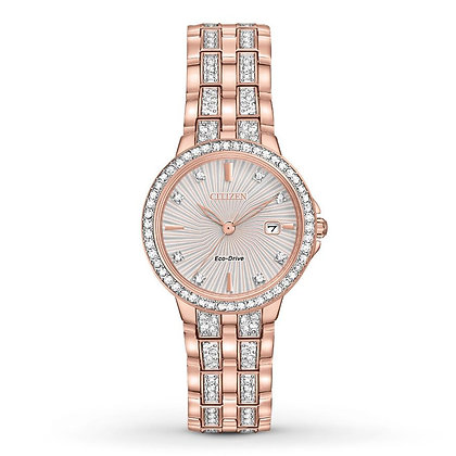 Citizen Watch Bracelet Rose Gold Tone Stainless Steel Part # 59-S06555
