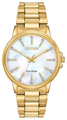 Citizen Watch Bracelet Gold Tone Stainless Steel Part # 59-R00528