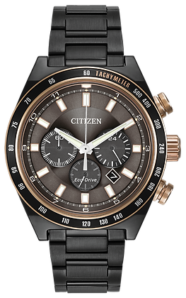 Citizen Watch Bracelet Black Ion Plated Stainless Steel Part # 59-R00347