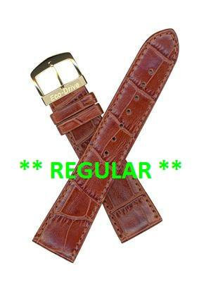 Citizen Watch Strap Brown Leather 21 MM Specialty Part # 59-T50050