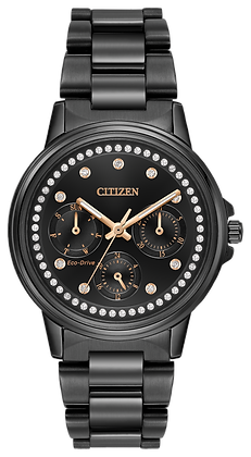 Citizen Watch Bracelet Black Tone Stainless Steel Part # 59-R00415