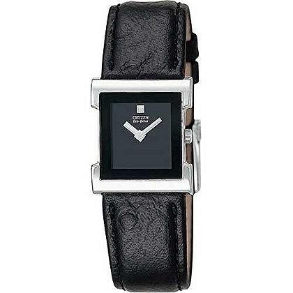 Citizen Watch Strap Black Leather 17 MM Part # 59-S50034