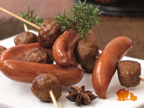 Prinskorv (traditional Swedish sausages)