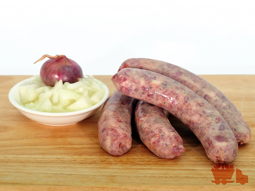 Pork Sausages with Onions