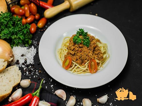 Spaghetti alá Bolognese with minced Pork