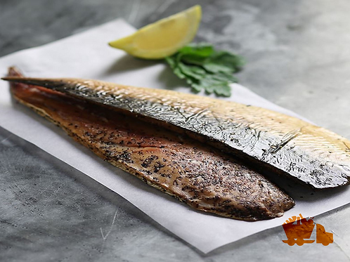 Hot smoked whole mackerel (saba)
