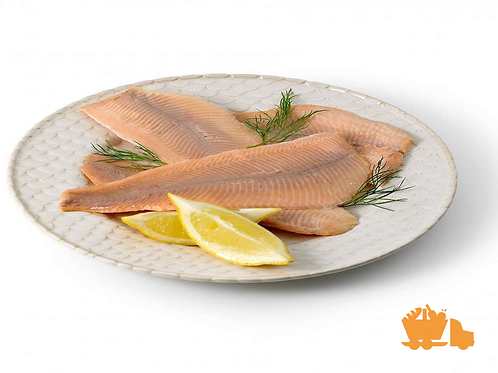 Hot smoked trout fillets