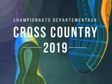 CHAMPIONNATS DÉPARTEMENTAUX DE CROSS COUNTRY - DIMANCHE 13 JANVIER 2019 - CHAMPIGNY