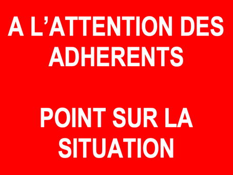 Point sur la situation - Covid19