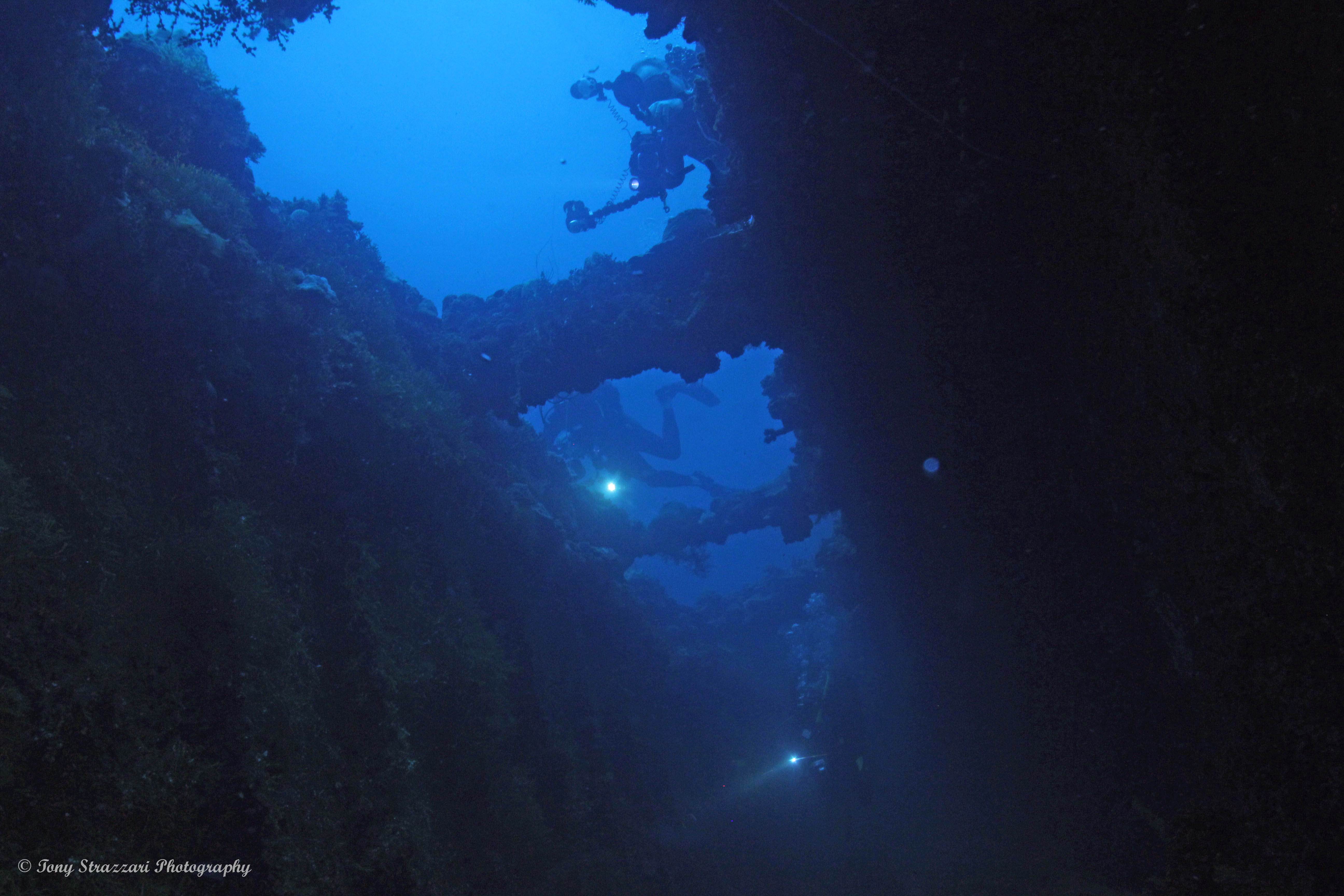 Leaving the wreck
