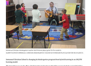 Immanuel Christian School Switches to AM/PM Learning Model for Kindergarten