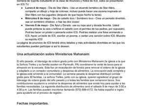 Boletín en español - 5 de Mayo, del 2020