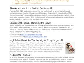 Announcements & Events: August 24, 2020
