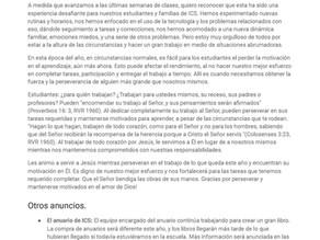 Boletín en español - 11 de Mayo, del 2020