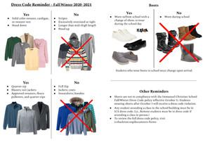 Winter 2020 Dress Code Reminder