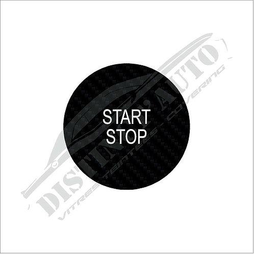 Sticker bouton démarrage Renault carbone