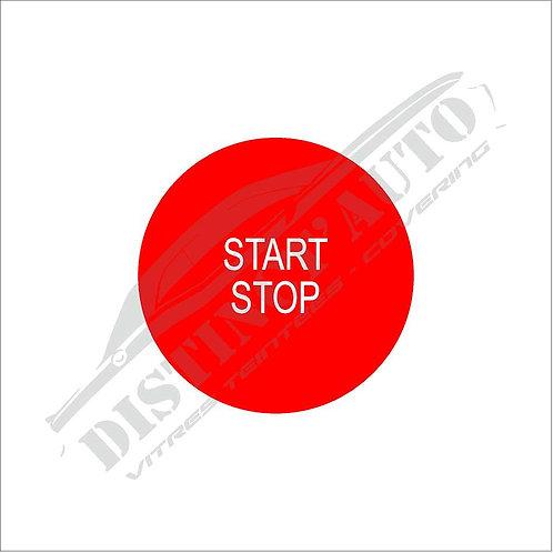 Sticker bouton démarrage Renault rouge