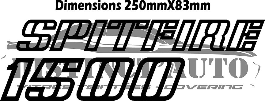 Spitfire 1500 en découpe chrome ajouré 250x83mm