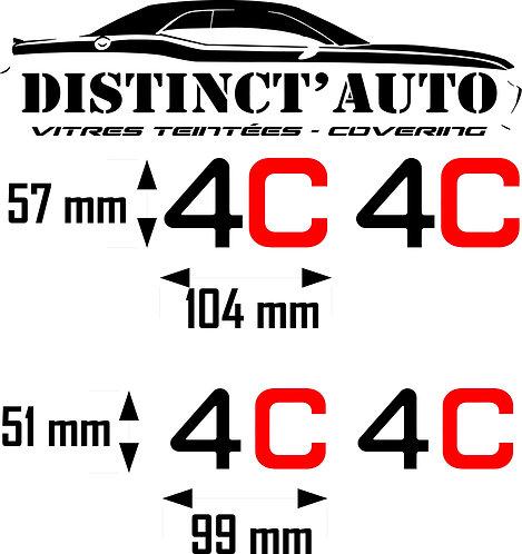 stickers 4C en découpe et doming 4 exemplaires