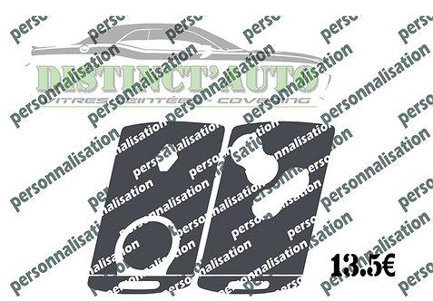 Stickers de carte renault 4 boutons personnalisable