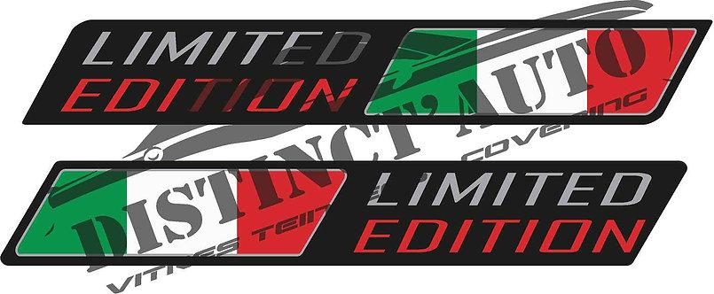 Drapeau italie limited edition en doming, la paire. 125x19mm