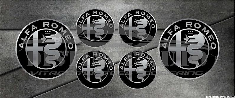 Pack stickers Alfa sur chrome en Doming