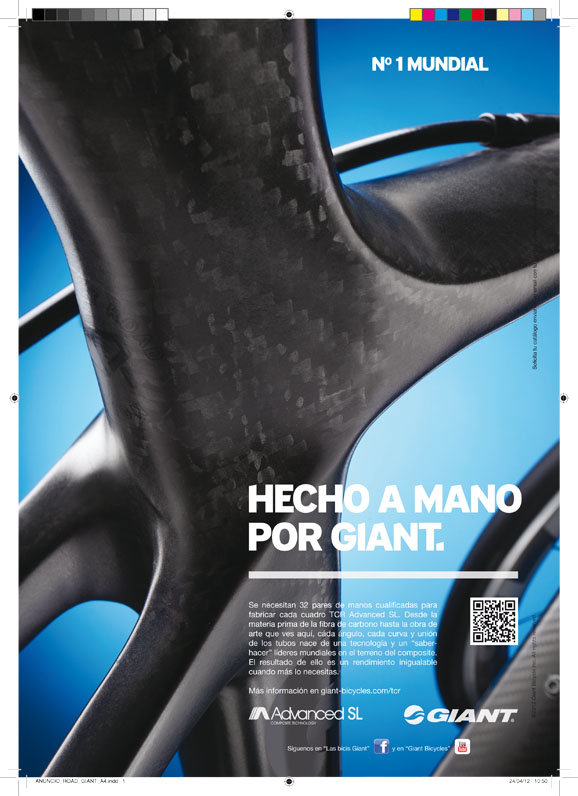 Publicidad Giant realizada por Trafico Grafico