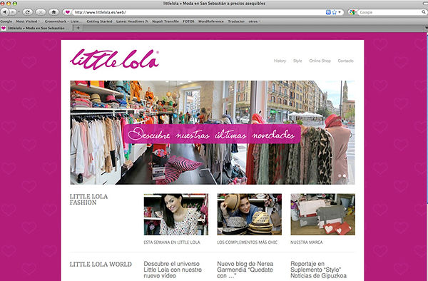 Web Little Lola realizada por Trafico Grafico