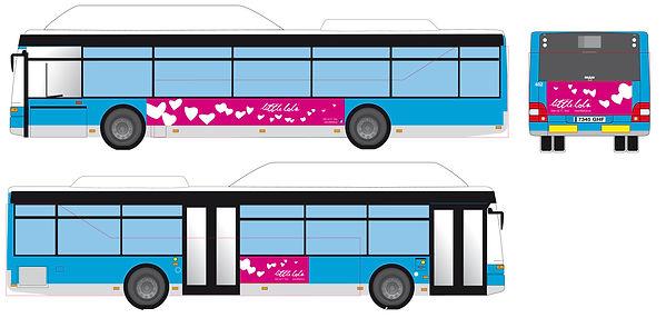 Publicidad autobus Little Lola realizado por Trafico Grafico