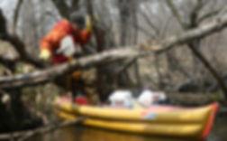 Satoshi Ogata kayaking in the Bekanbeushi River
