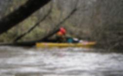 Satoshi Ogata kayaking in the Furen River