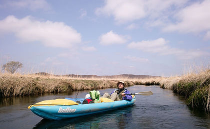 Leo R. Yamada kayaking in the Bekanbeushi River