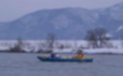 Satoshi Ogata kayaking in the Chikuma River