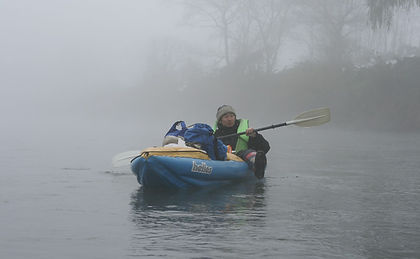 Leo R. Yamada kayaking in the Chikuma River