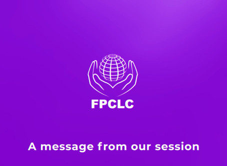 A message from our session