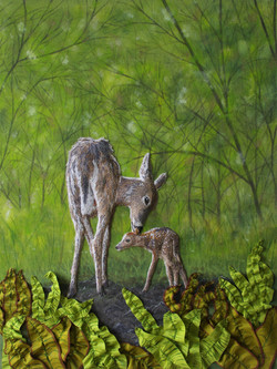 A Fawn's First Stand SOLD