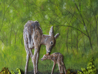 A Fawn's First Stand