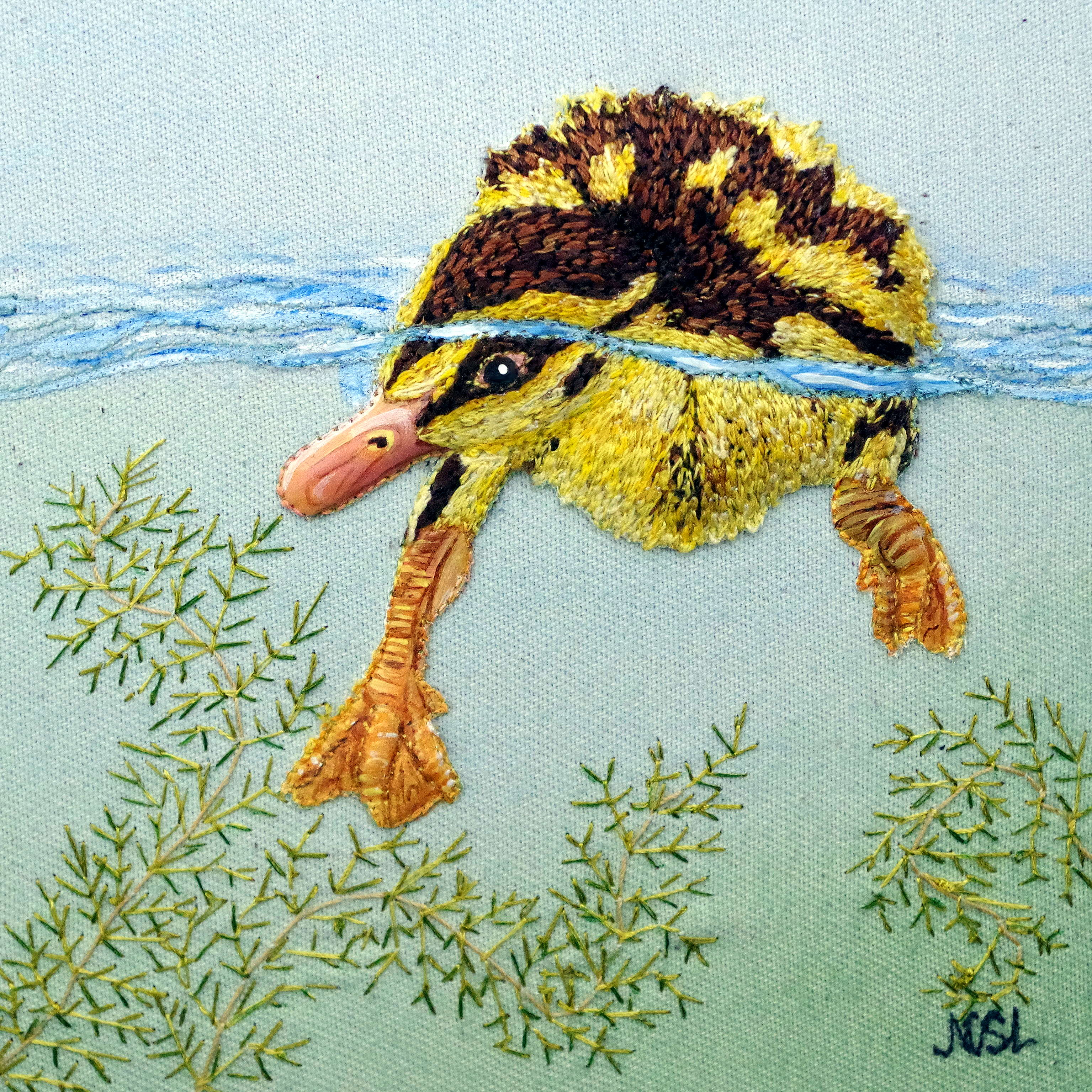 Inquisitive Duckling SOLD